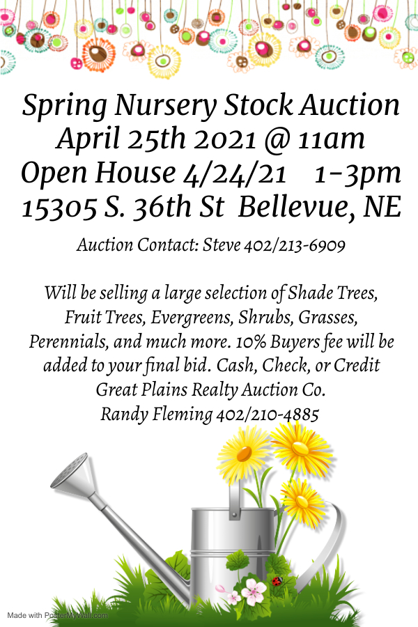 Nursery auction Spring
