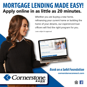 Cornerstone Bank Mortgage Lending 2019 300