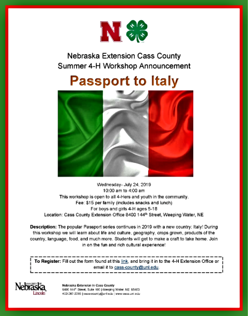 2019 06 26 4 H Passport to Italy