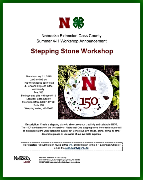 2019 06 26 4 H Stepphing Stone Workshop