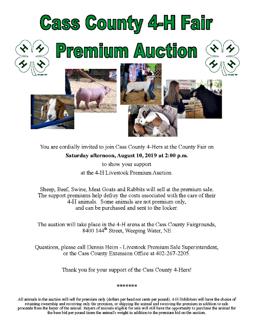 2019 07 31 4 H Livestock Auction