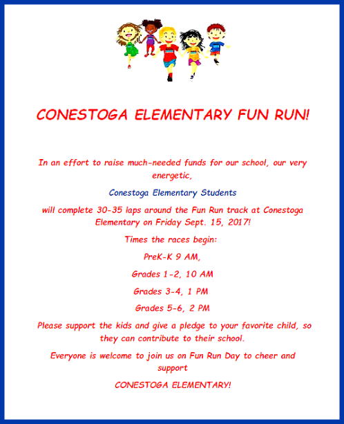 2017 09 13 CONESTOGA FUN RUN