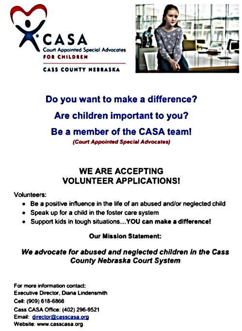 2020 09 16 CASA needs volunteers