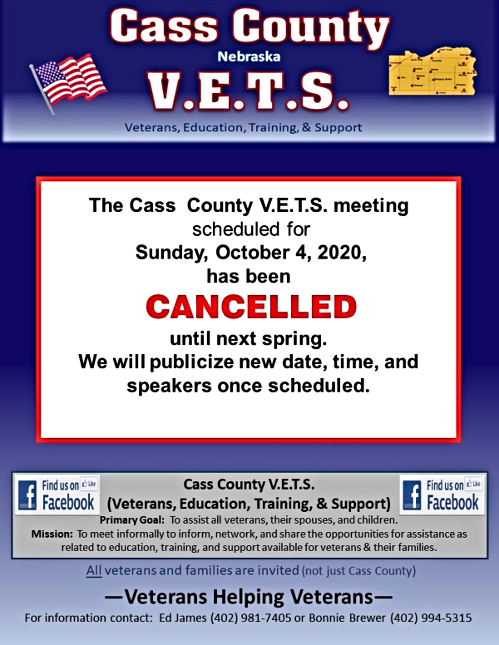 2020 09 16 CASS CO VETS Oct 4 2020 cancelled 1