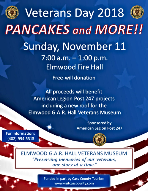 2018 10 24 ELM Veterans Day Pancake Feed 2018