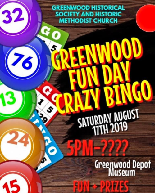 2019 07 31 GRN FUN DAY BINGO