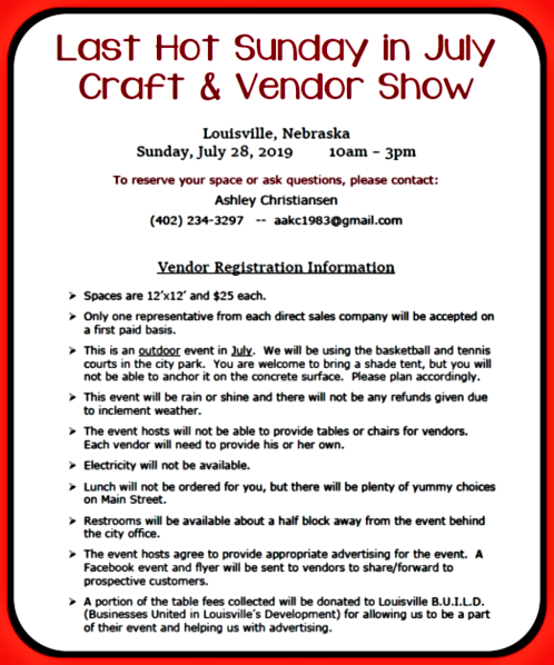 2019 05 29 LSV LHSIJ Vendor Flyer 1