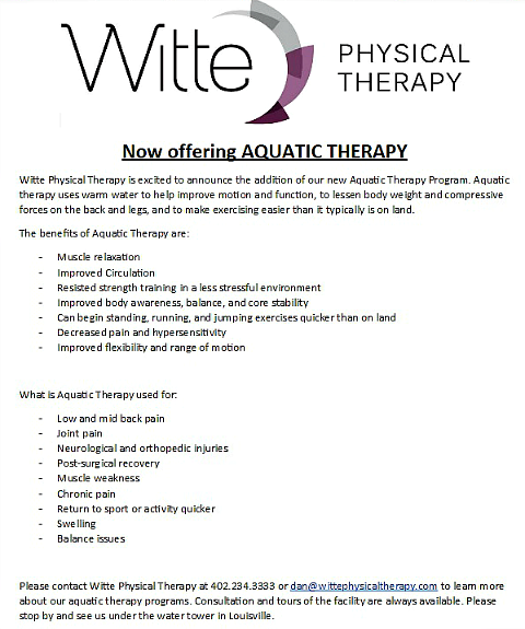 2016 10 19 LSV Witte aquatic therapy