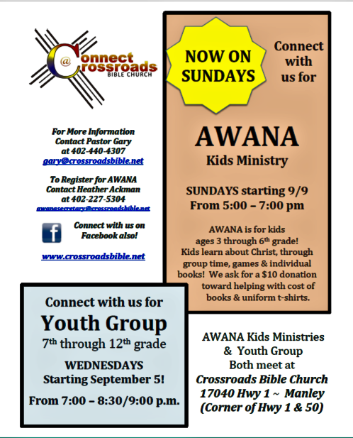 2018 08 29 MNLY AWANA and Youth Group Flyer for Newsletters 1 1