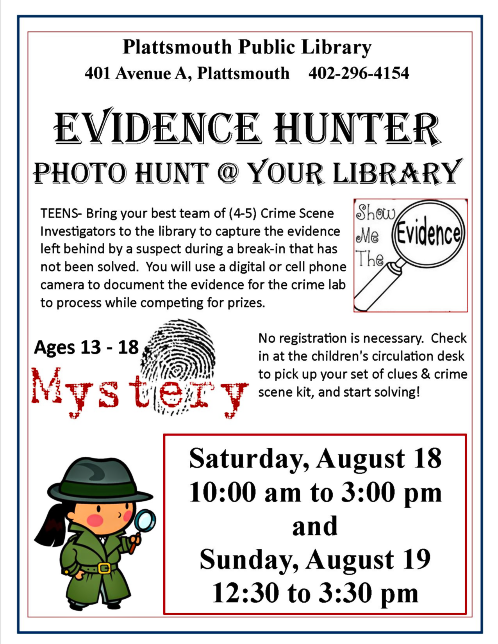 2018 08 08 PLT LIB Evidence Hunter