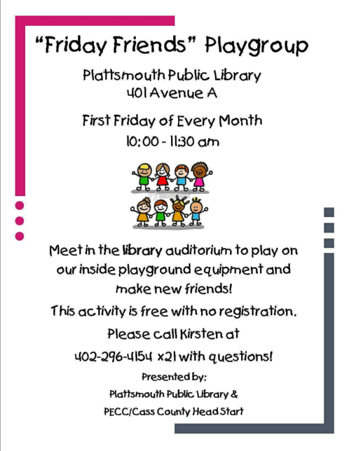 2018 08 08 PLT LIB Friday Friends Playgroup